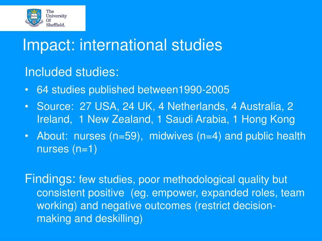 Impact: international studies