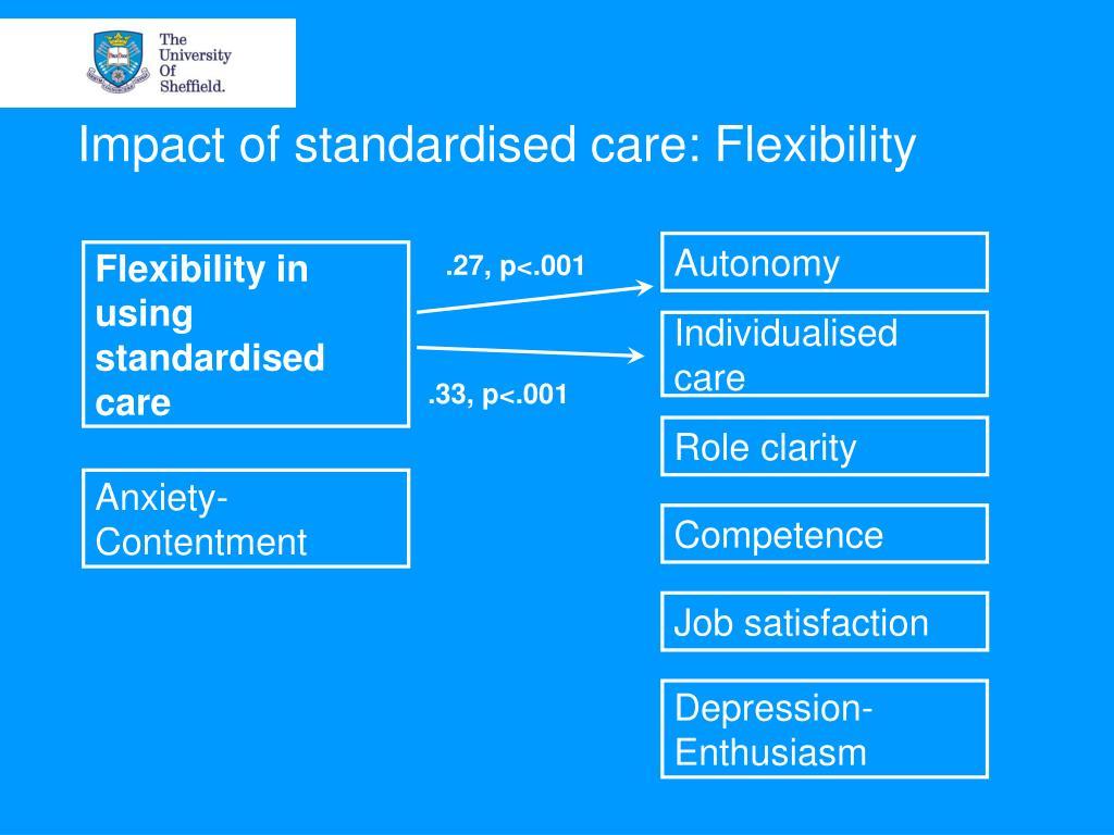Impact of standardised care: Flexibility