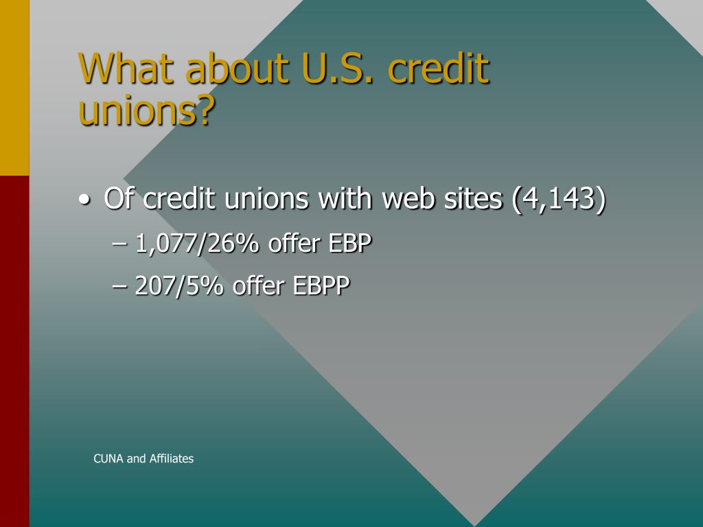 What about U.S. credit unions?