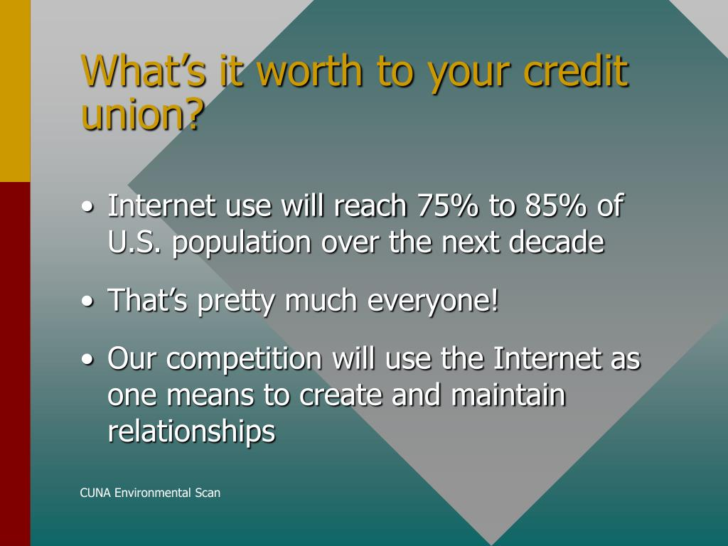 What's it worth to your credit union?