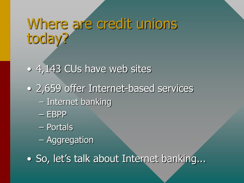 Where are credit unions today?