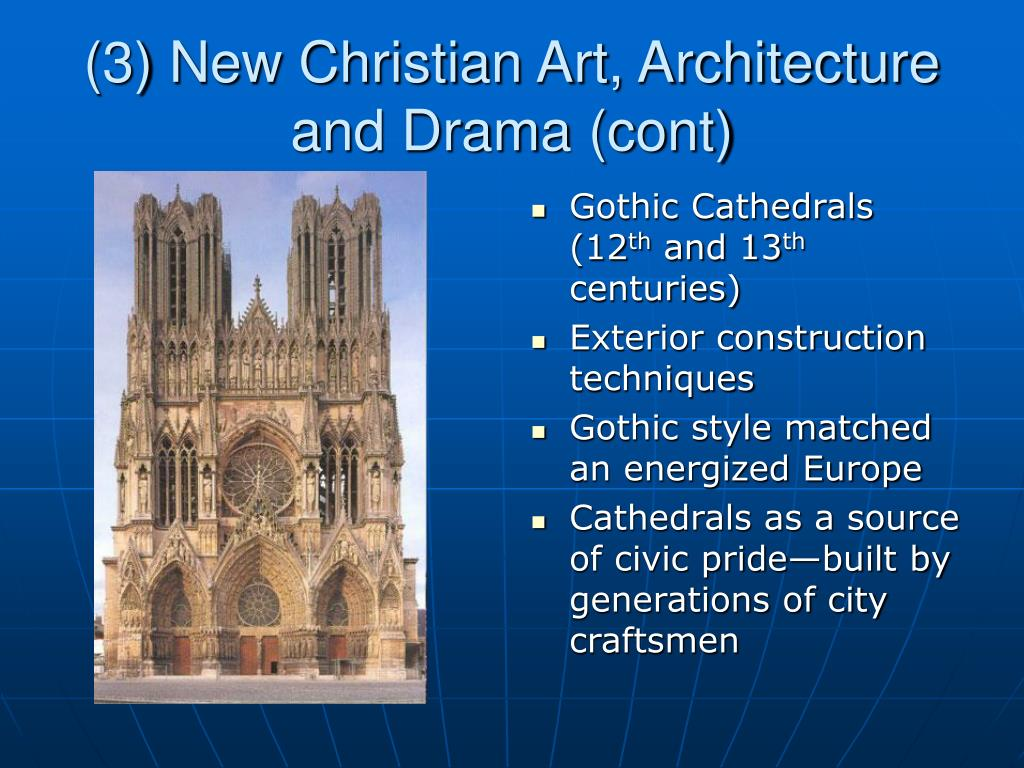 (3) New Christian Art, Architecture and Drama (cont)
