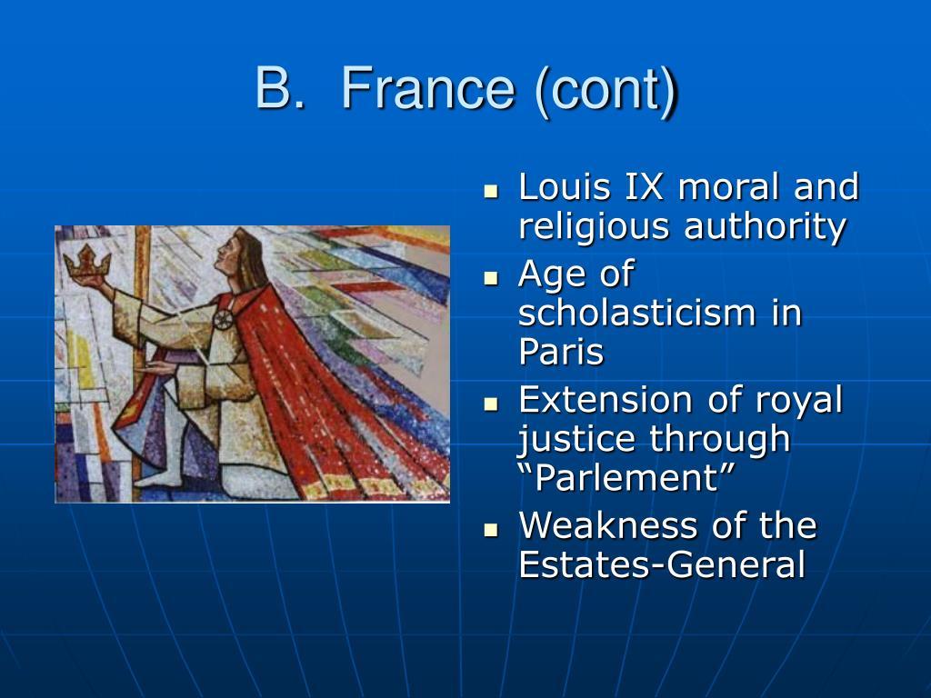 B.  France (cont)