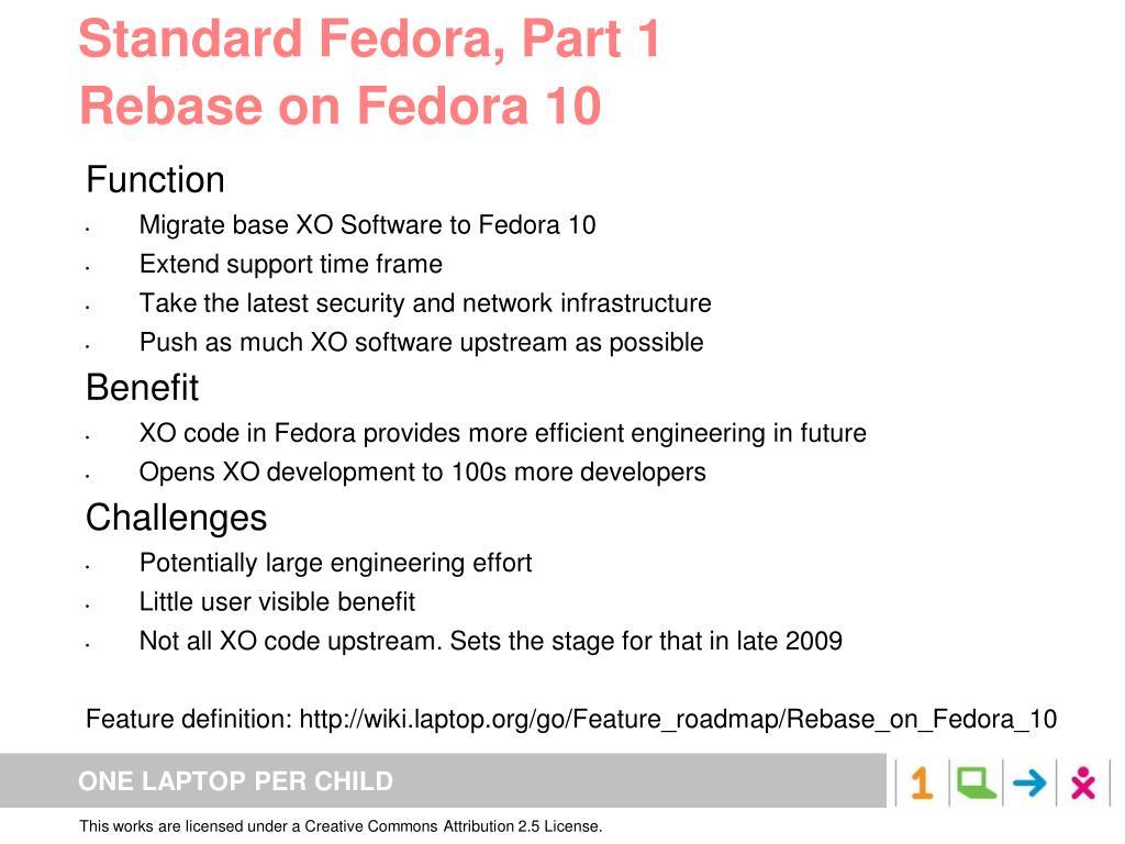 Standard Fedora, Part 1