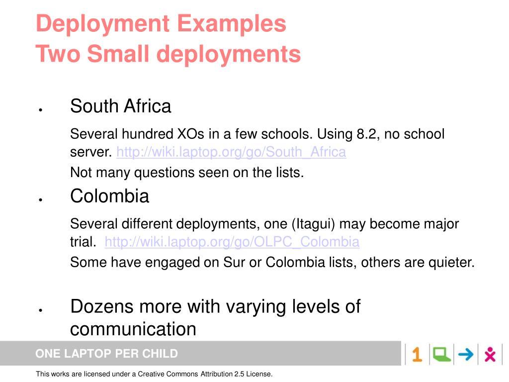 Deployment Examples