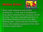 malian griots