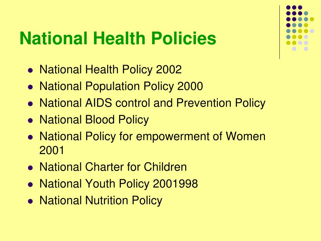 National Health Policies