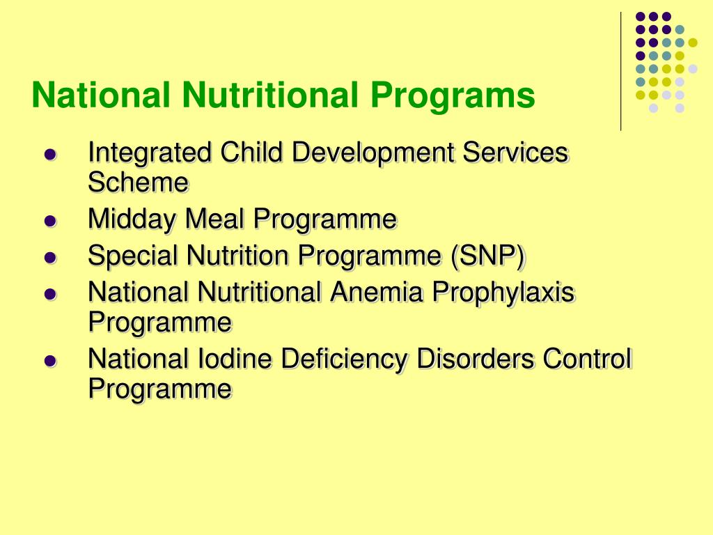 National Nutritional Programs