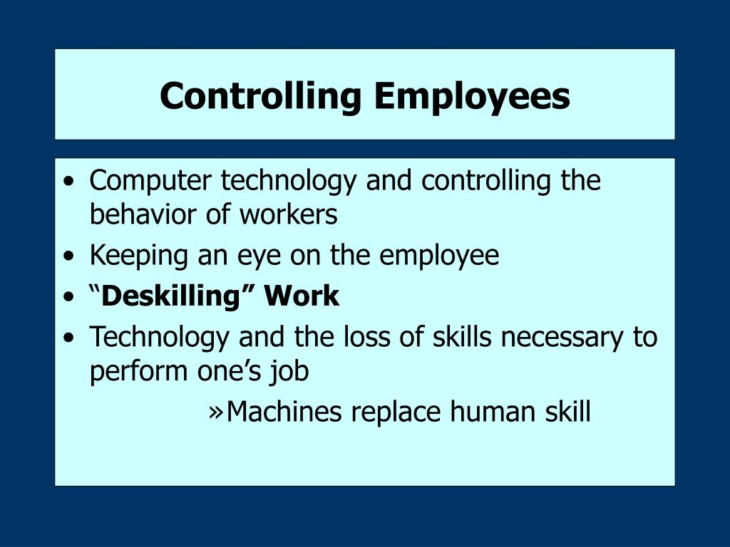 Controlling Employees