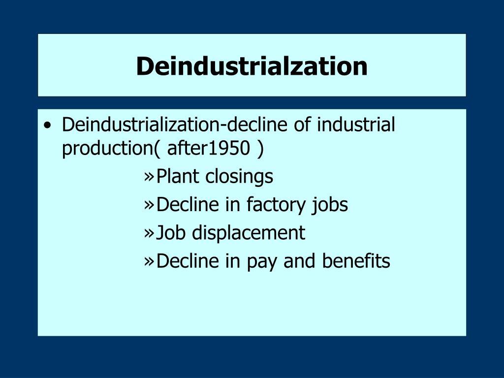Deindustrialzation