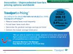 innovation unprecedented low fare pricing options worldwide