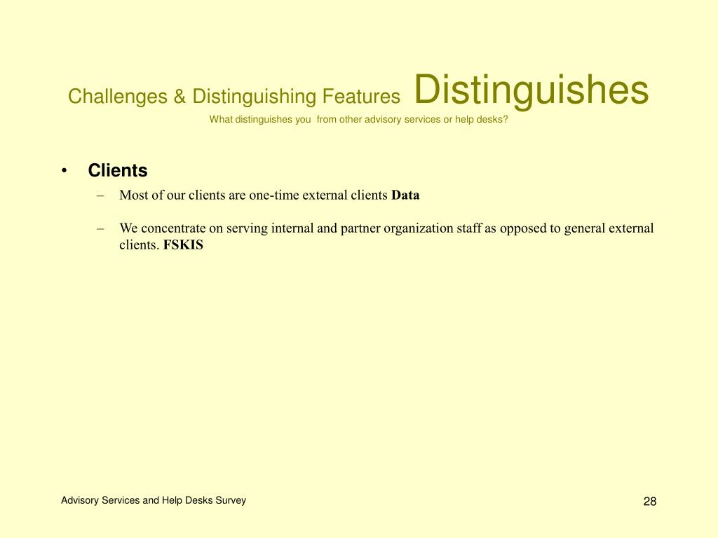 Challenges & Distinguishing Features