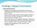 findings subject comments16