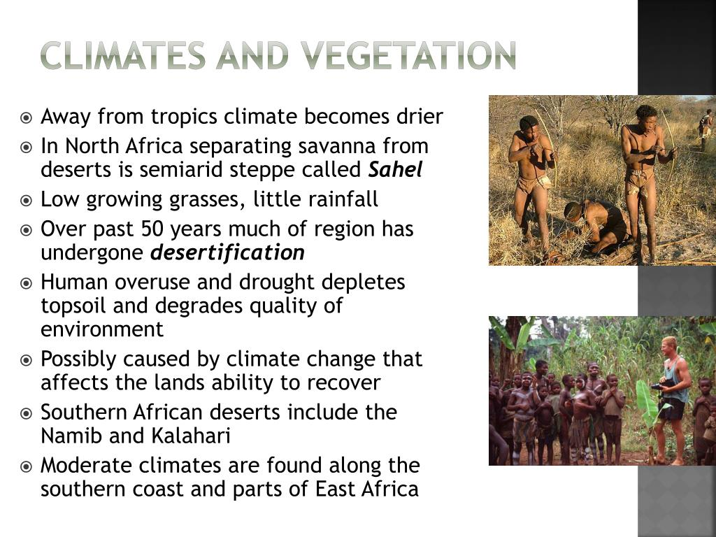 Climates and Vegetation