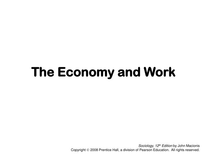 the economy and work n.