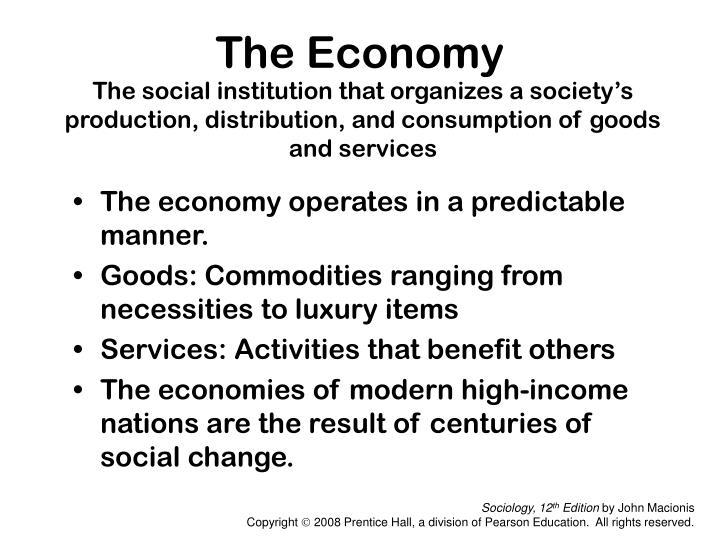 industrial and postindustrial societies have ____ social institutions