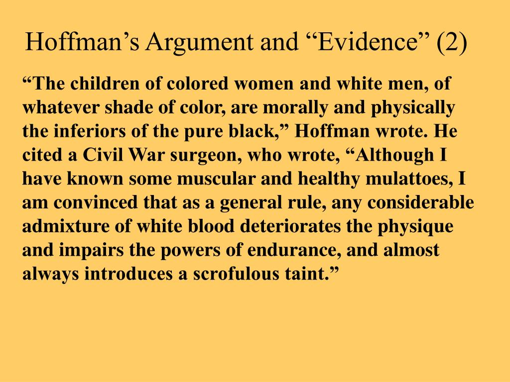 "Hoffman's Argument and ""Evidence"" (2)"