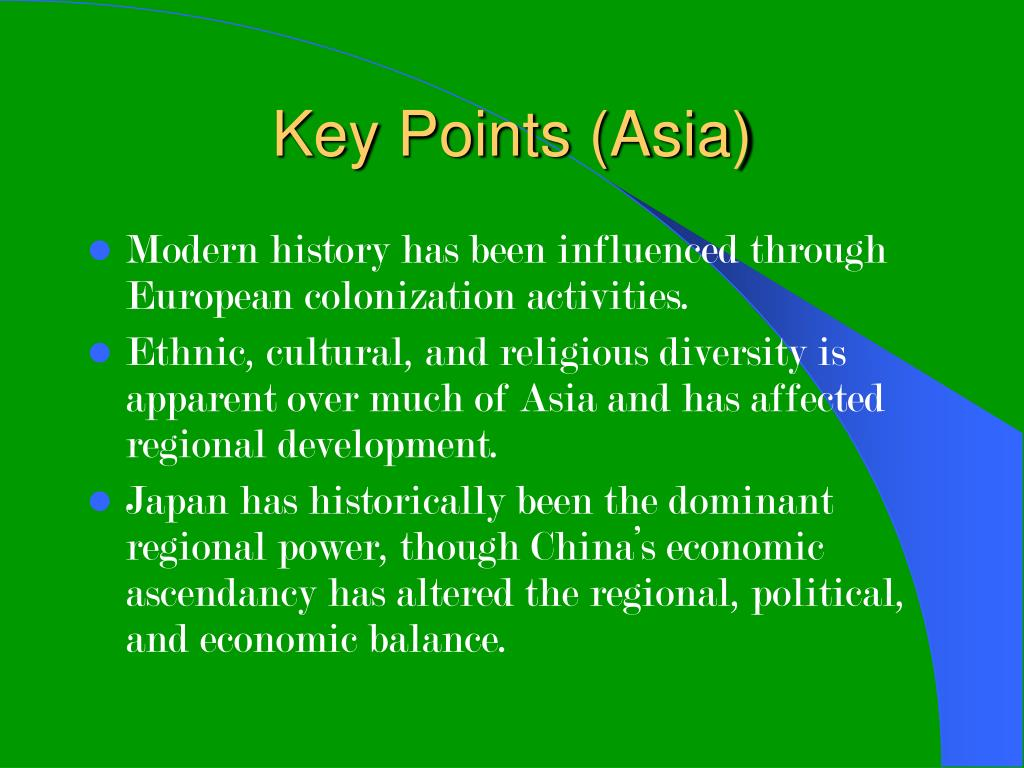 Key Points (Asia)