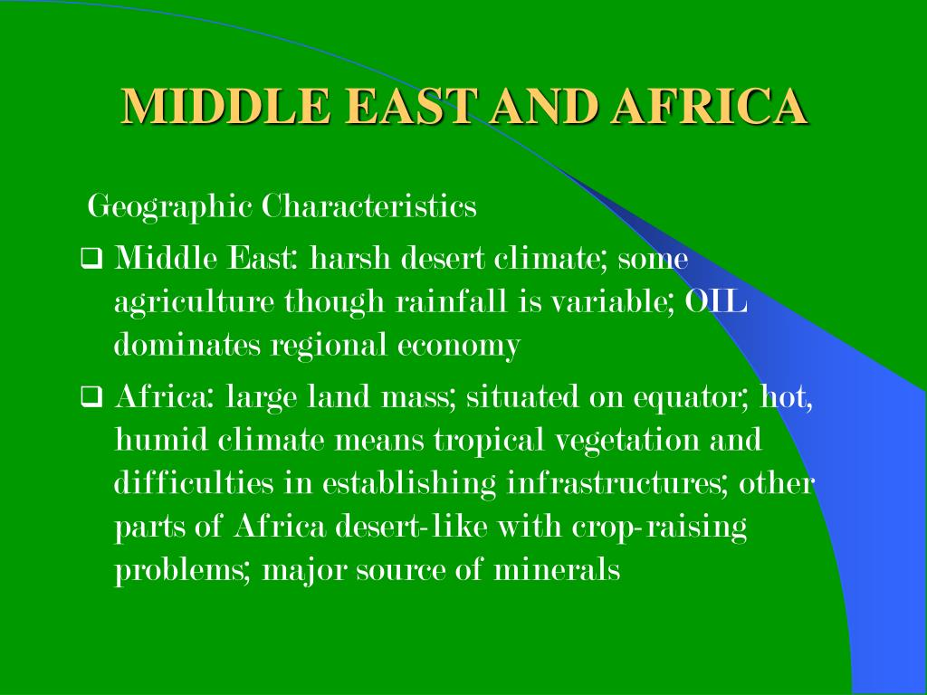 MIDDLE EAST AND AFRICA