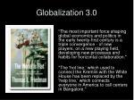 globalization 3 0