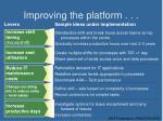 improving the platform