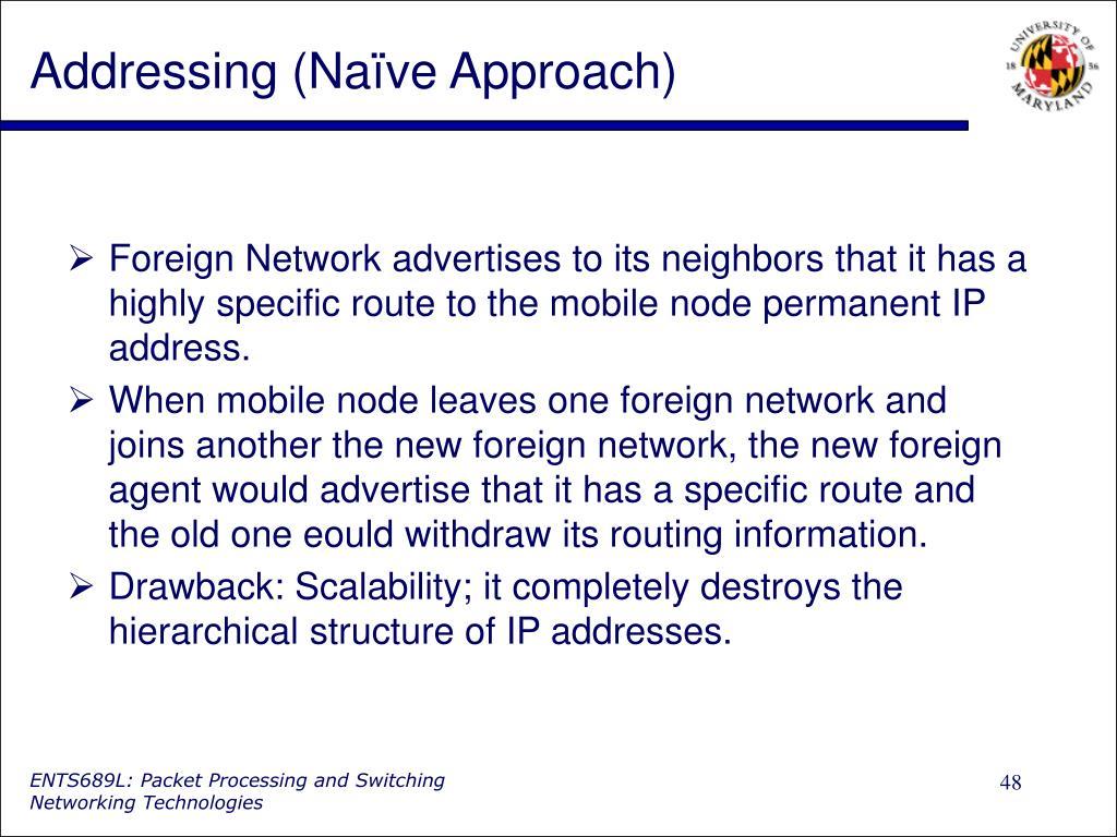 Addressing (Naïve Approach)