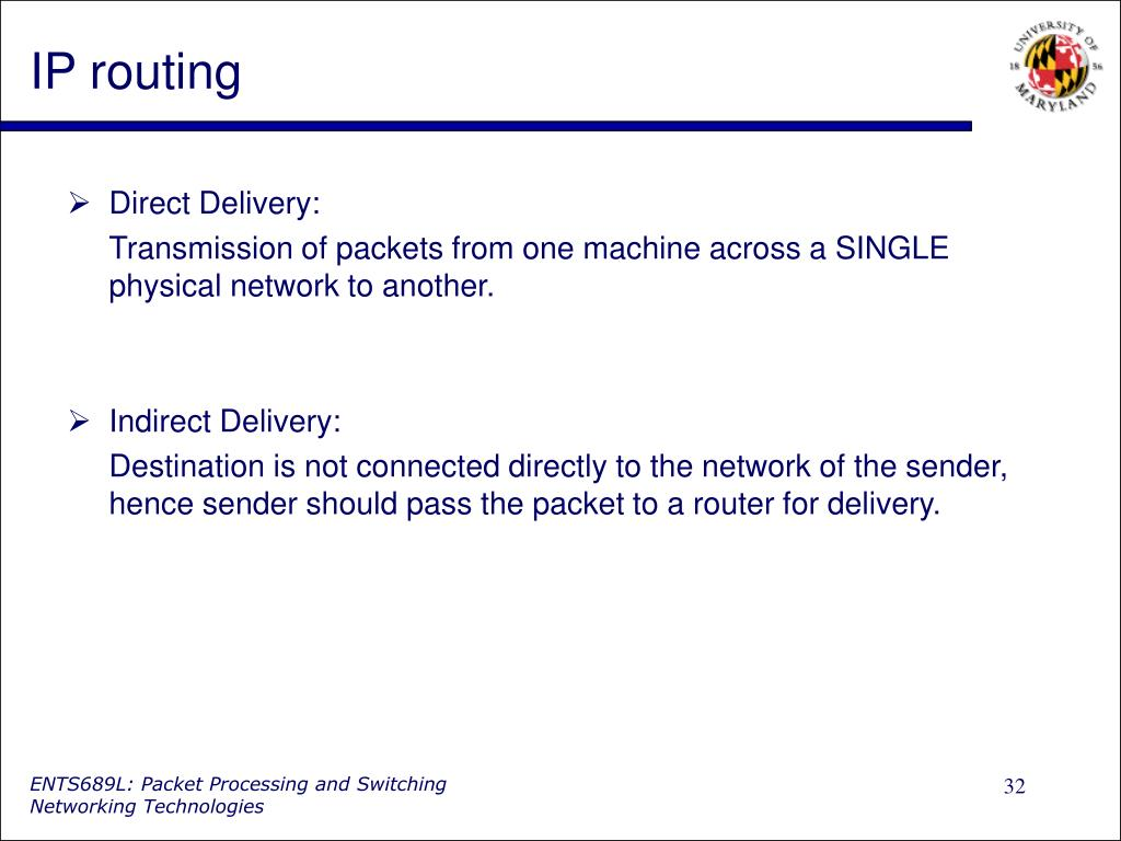 IP routing