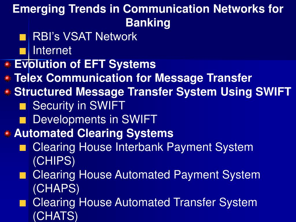 Emerging Trends in Communication Networks for Banking