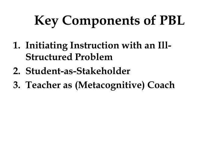 Key Components of PBL