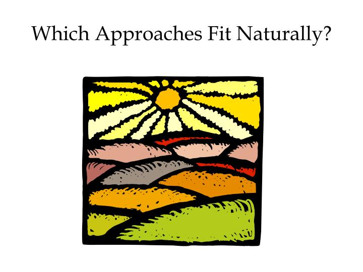 Which Approaches Fit Naturally?