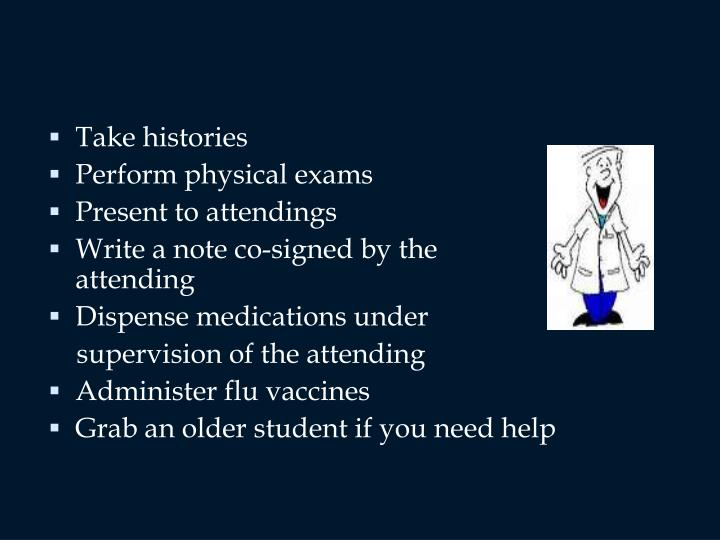 Take histories