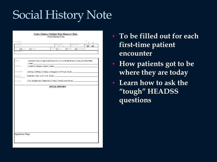 Social History Note