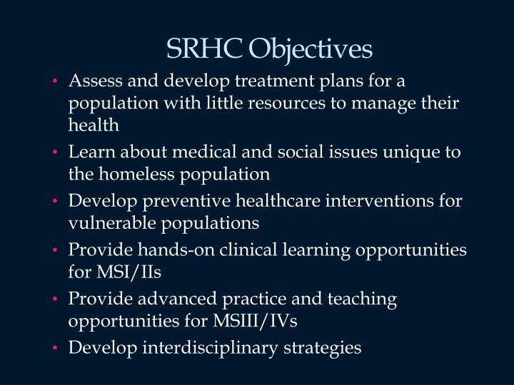 SRHC Objectives
