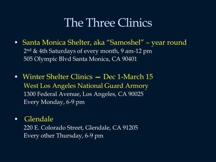 The Three Clinics