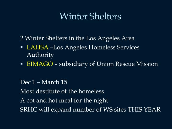 Winter Shelters