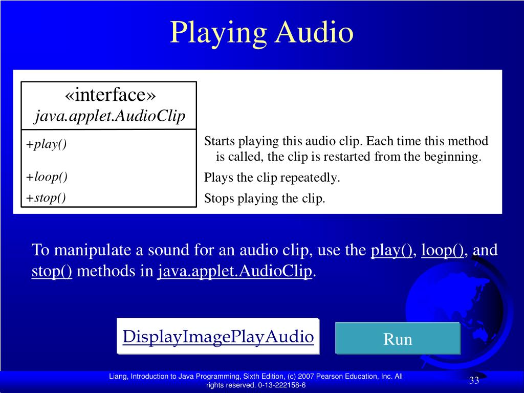 Playing Audio