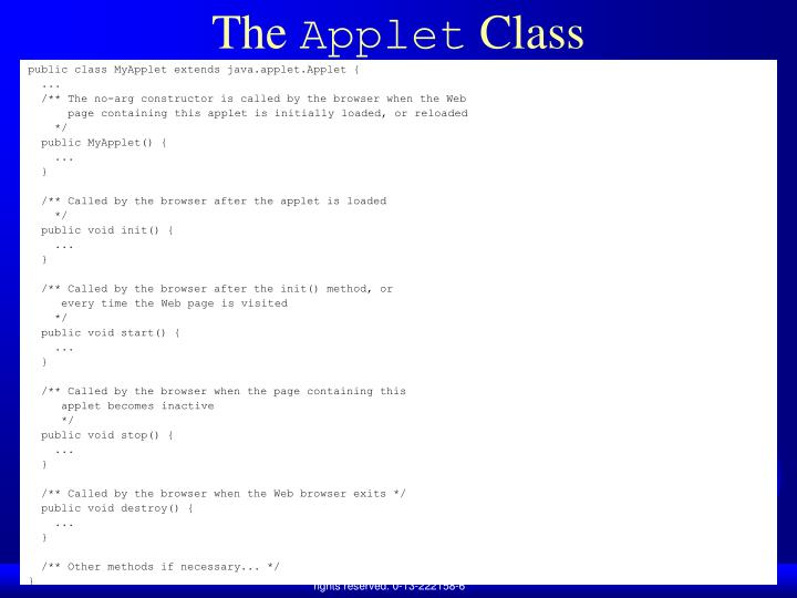 The applet class