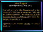 jerry bridges direct operation of holy spirit59