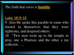 the faith that saves is humble