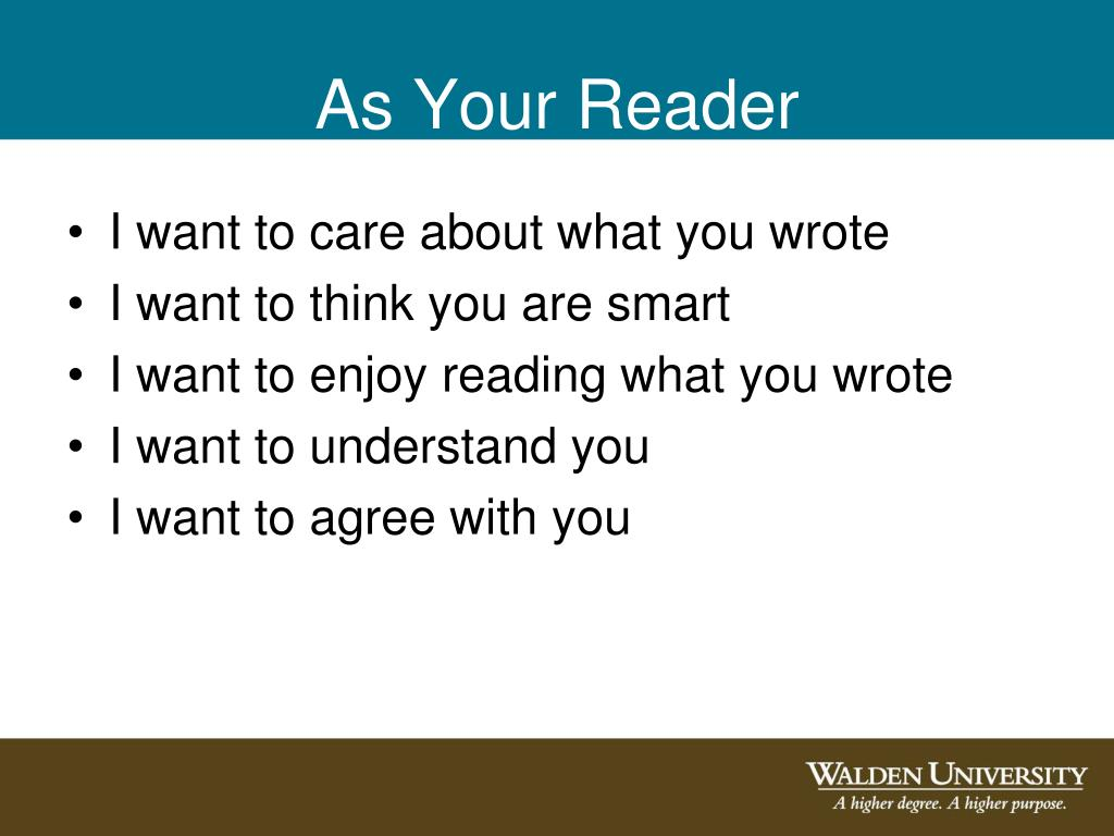 As Your Reader
