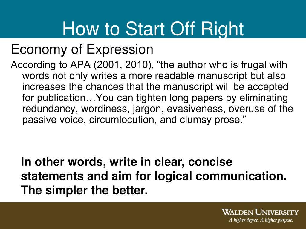 Economy of Expression