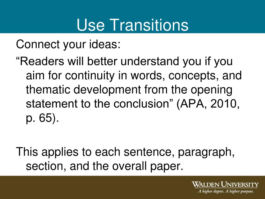 Use Transitions