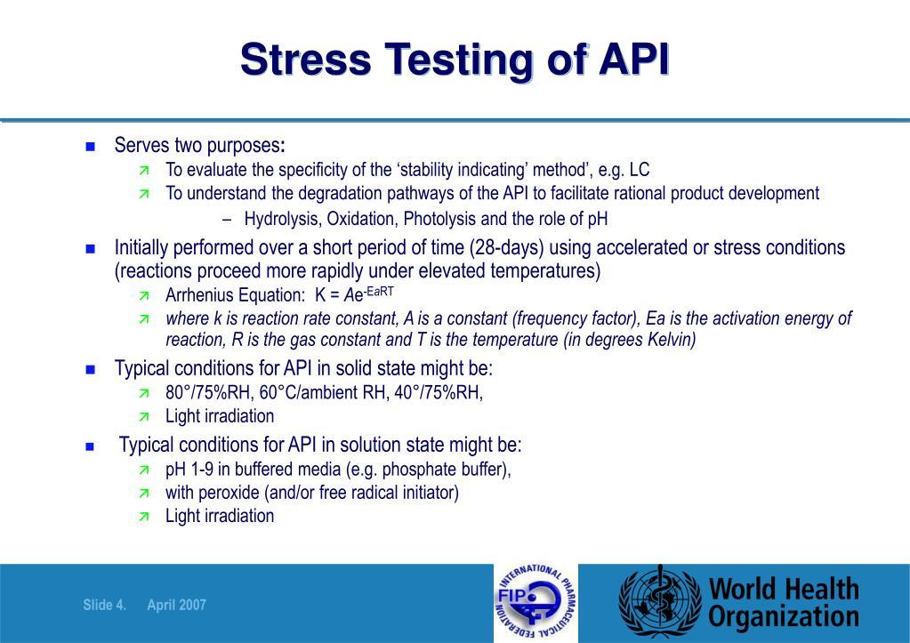 Stress Testing of API