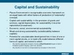 capital and sustainability