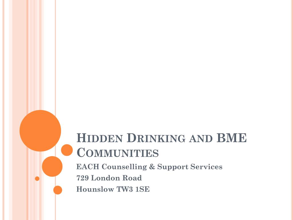 hidden drinking and bme communities l.