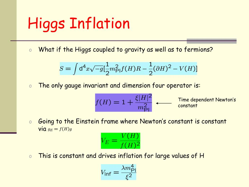 Higgs Inflation