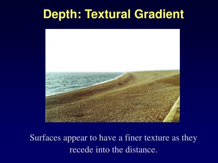 Depth: Textural Gradient