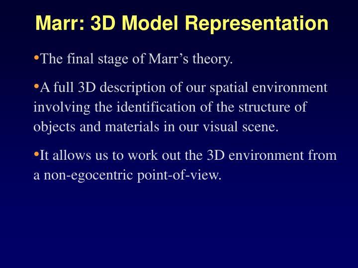 Marr: 3D Model Representation