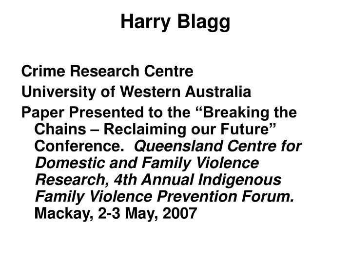 Harry blagg