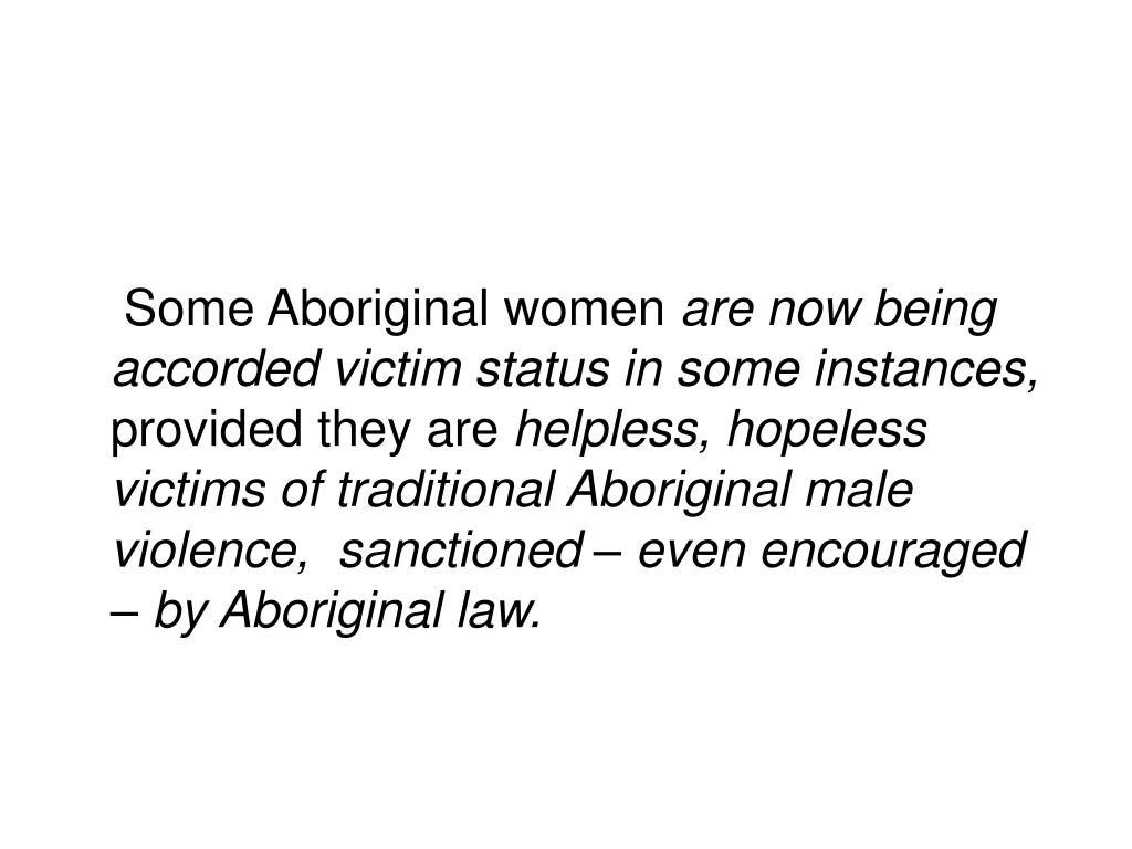 Some Aboriginal women